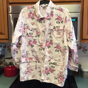 Light pink floral jacket, Excellent condition